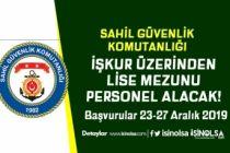Sahil Güvenlik İŞKUR Üzerinden Personel Alım İlanı DPB'de Yayımlandı!