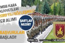 MSB Kara Kuvvetleri 2020 Yılı İlköğretim Mezunu Sözleşmeli Er Alımı Yapıyor!