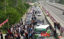 Meral Akşener'i 200 araçlık konvoy karşıladı.