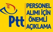 PTT Personel Alımları Yeni Gelişme