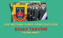 Jandarmadan Öğrenci Subay Alımı için Duyuru: Sınav Takvimi Yayımlandı
