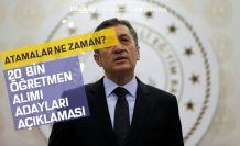 Milli Eğitim Bakanı Ziya Selçuk'tan 20 Bin Öğretmen Alımı Açıklaması!