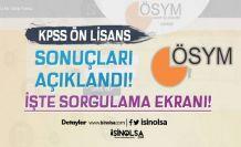ÖSYM KPSS Ön Lisans Sonuçlarını Açıkladı! ( sonuc.osym )
