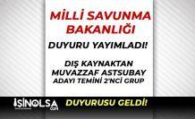 MSB PERTEM'de TSK Muvazzaf Astsubay Alımı 2 nci Grup Sonuç İlanı Yayımlandı
