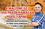 4 Malzeme ile Evde Ramazan Pidesi Yapımı Tarifi! Ekmek Ustasından, Arda'nın Mutfağından!