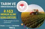 KPSS-2020/7 Tarım Bakanlığı 2 Bin 153 Memur Alımında Son Gün!