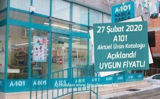 27 Şubat 2020 A101 Aktüel Ürün Kataloğu Açıklandı! Uygun Fiyatta