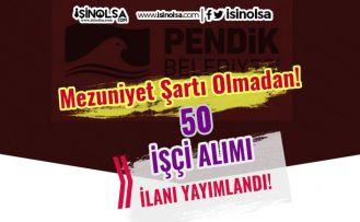 İstanbul Pendik Belediyesi 50 İşçi Alımı İlanı 2021