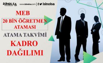 2020 Haziran 20 Bin Öğretmen Atama Takvimi, Kadrolar Açıklandı!