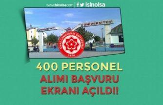 Cumhuriyet Üniversitesi 400 Personel Alımı Başvuru Ekranı Açıldı