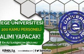 Ege Üniversitesi Hastanesine 200 Personel Alınacak! En az ilköğretim mezunu