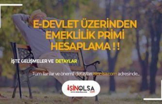 Emeklilikte E-devlet Üzerinden Yaş ve Prim Hesaplama!