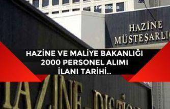 Hazine ve Maliye Bakanlığı 2000 Memur Alımı Başvuru Ne Zaman Başlayacak?