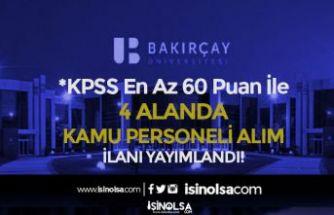 İzmir Bakırçay Üniversitesi 4 Alanda Kamu Personeli Alıyor! Lise, Ön Lisans ve Lisans
