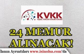 KVKK KPSS Puanı İle 24 Memur Alım İlanı Yayımladı!