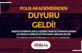 PA Sınav Giriş Belgelerini Yayımladı! Kıdemli ve Başpolis Memuru İlk Derece Amirlik
