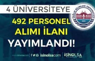 Sağlık Bilimleri Üniversitesi ve 4 Üniversiteye 492 Kamu Personeli Alımı İlanı Yayımlandı