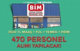 BİM İŞKUR İle 470 Personel Alımı Yapacak! 3500 TL Maaş + Yol+Prim+Yemek