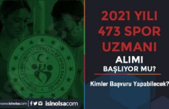 Gençlik ve Spor Bakanlığı 2021 yılı 473 Spor Uzmanı Alımı Başlıyor Mu?
