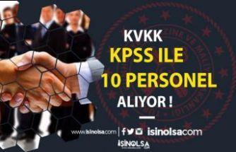 Kişisel Verileri Koruma Kurumu   KPSS İle 10 Adet Uzman Yardımcısı Alıyor !