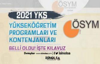 ÖSYM 2021 YKS Program ve Kontenjan Kılavuzu Yayımladı!