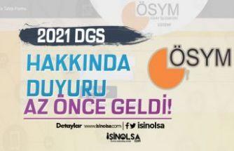 ÖSYM'den 2021 yılı DGS Duyurusu Geldi! Eğitim Bilgisi Seçme Başladı