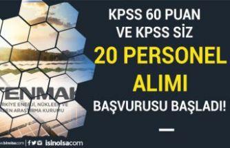 TENMAK 60 KPSS Puanı İle ve KPSS siz Personel Alımı Başvurusu Başladı!