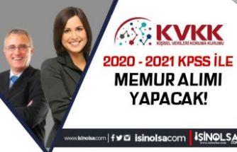 KVKK 2020 - 2021 KPSS İle Lisans Mezunu Memur Alımı Yapacak!