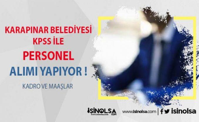 Karapınar Belediyesi KPSS İle Personel Alıyor !