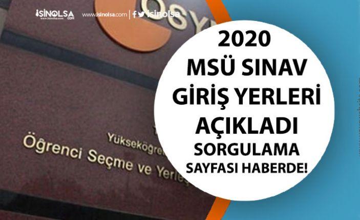 ÖSYM 2020 MSÜ Askeri Öğrenci Alımı Sınav Giriş Belgeleri Sorgulama Ekranı Açıldı!