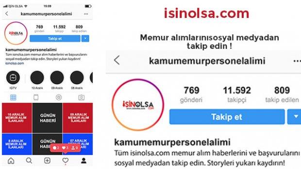 Memur Alımlarını Instagram' dan Takip Edin!